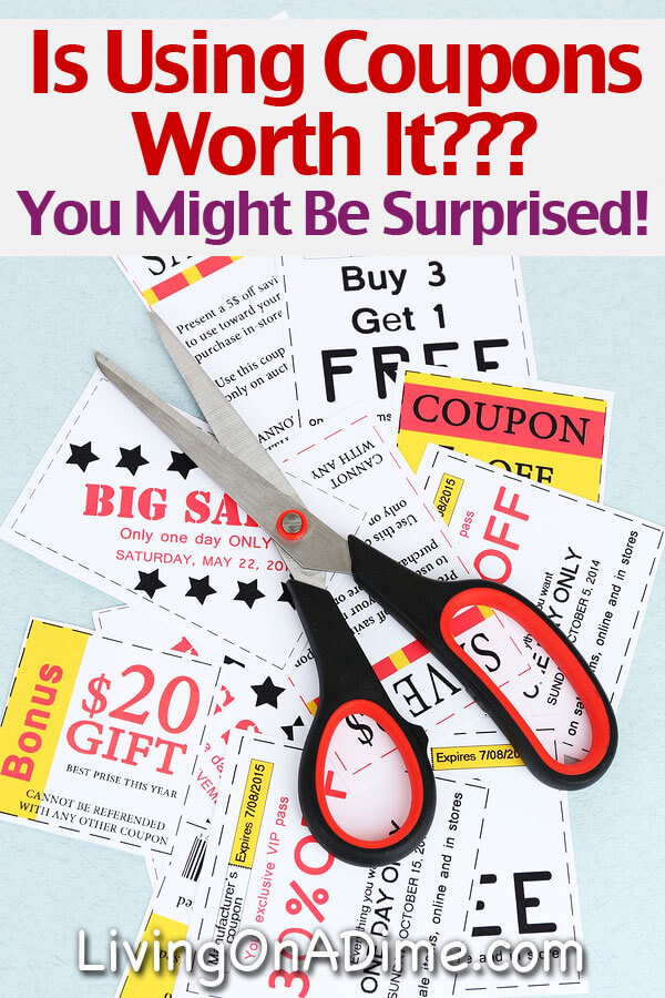 Is Using Coupons Worth It? You might be surprised.