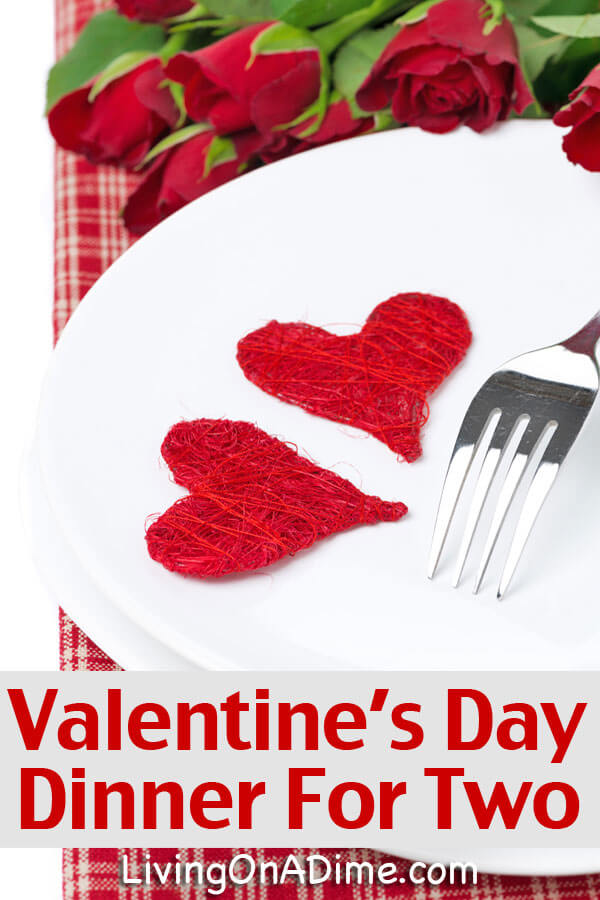 valentine 39 s day dinner for two easy menu and recipes