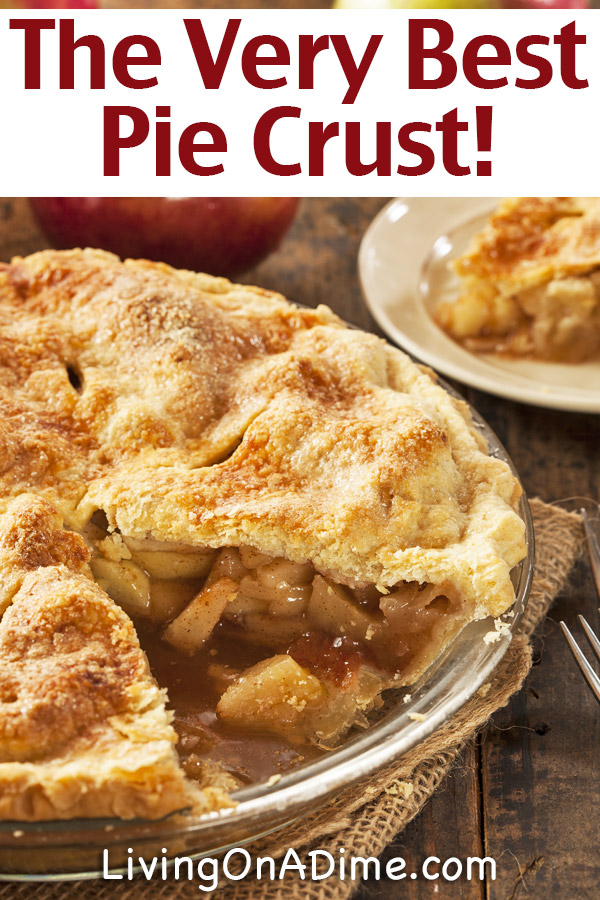This is the VERY BEST homemade pie crust recipe! It tastes great and has a great texture to make the perfect pies!