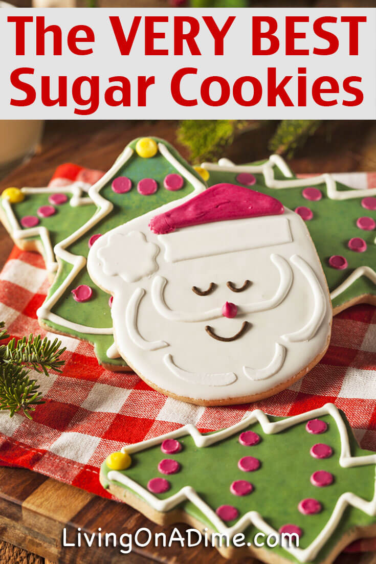 This is the best homemade christmas sugar cookies recipe! Sugar cookies are a great Christmas treat and these are so light and fluffy, you're sure to love them!