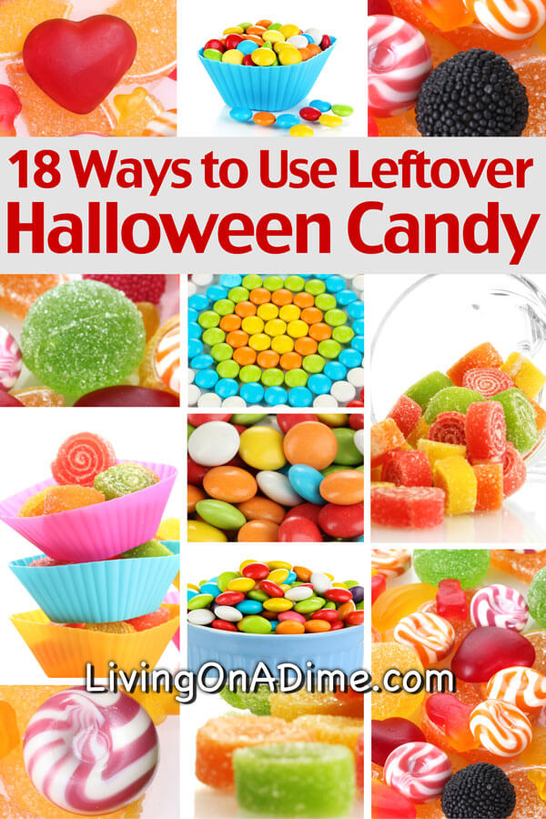 Here are some great creative ways to use leftover halloween candy and other holiday candy and to save a bundle buying discounted candy after any holidays. The candy bar milkshakes and chocolate chip candy bar cookies are especially yummy!
