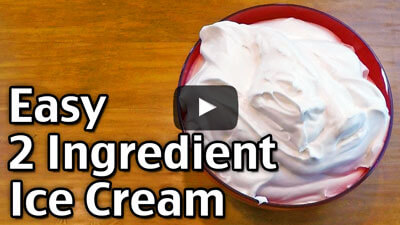 Easy 2 Ingredient Ice Cream
