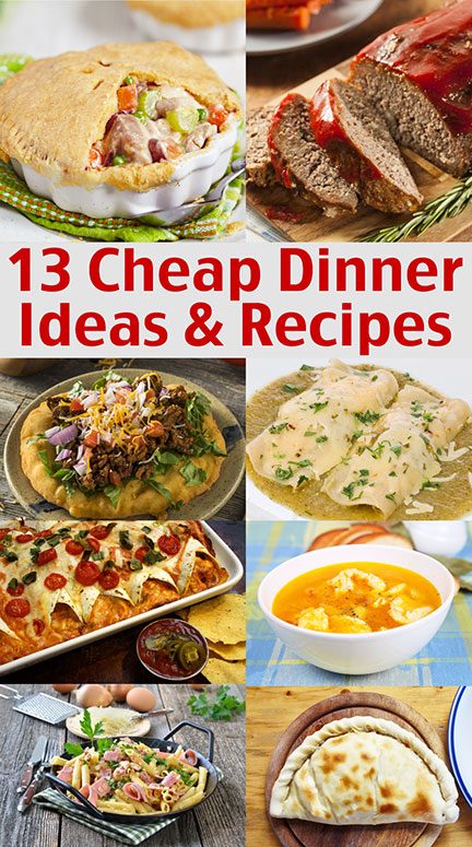 1 00 Dinners Cheap Dinner Ideas And Recipes Living On A Dime