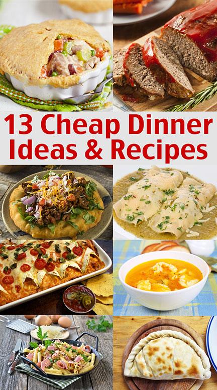 $1.00 Dinners! Cheap Dinner Ideas And Recipes \u2013 \u2013 Living on