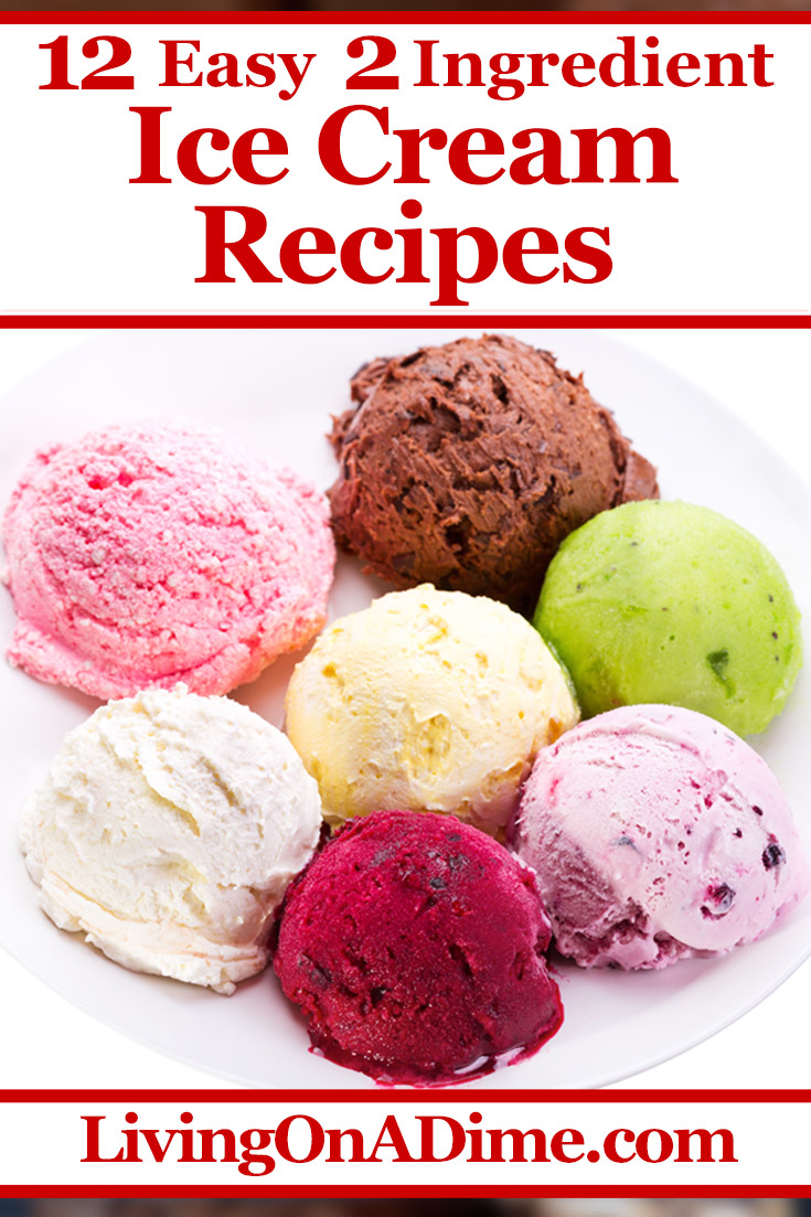 12 Easy 2 Ingredient Ice Cream Recipes You Will Love