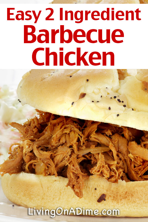 This easy barbeciue chicken recipe is a great way to make a whole new meal out of leftover chicken or rotisserie chicken! Serve as sandwiches or over rice with your favorite vegetable!