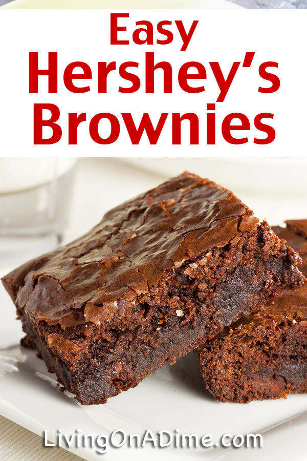 This easy Hershey's brownie recipe has the taste of Hershey's chocolate and makes it super simple to make tasty brownies in a hurry! Who doesn't love the taste of yummy chocolate brownies? This is an easy treat for kids or as a dessert to bring to a party or family get-together!