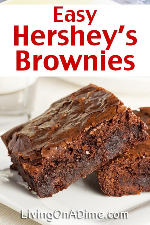 Easy Hershey S Brownie Recipe Super Simple Chocolate Brownies