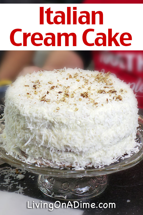 This Italian cream cake recipe makes a super tasty and decadent cake that's sure to please! This classic Southern recipe is rich and creamy, just like Grandma used to make! This classic comfort food dessert os especially great for holidays, parties and family get togethers!
