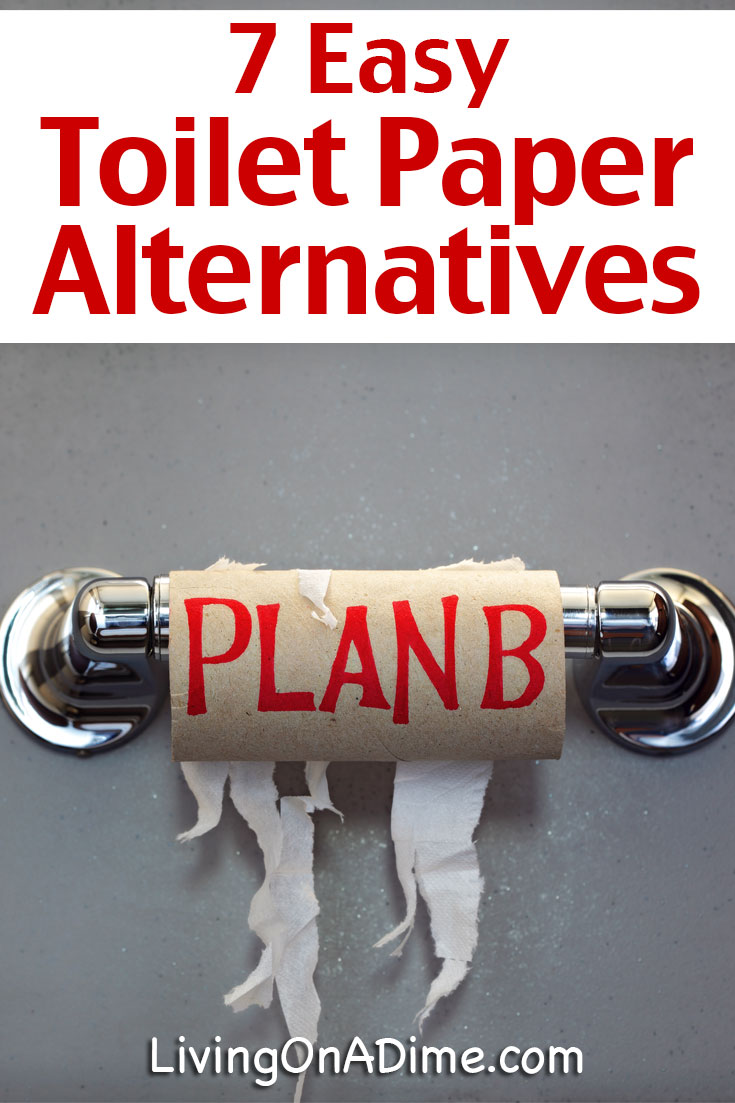 What to do in a crisis when no toilet paper is available? Here are 7 easy toilet paper alternatives to get you through if you can't find toilet paper!