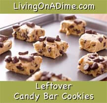 Leftover Chocolate Chip Candy Bar Cookies