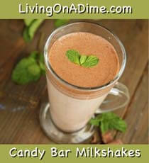 Candy Bar Milkshakes