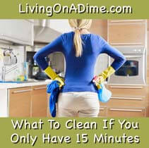 What To Clean If You Only Have 15 Minutes