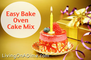 Easy Bake Oven Cake Mix Recipe