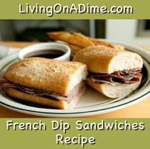 Yummy French Dip Sandwiches Menu