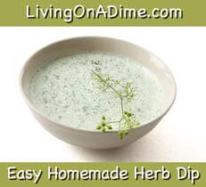 easy homemade herb dip recipe