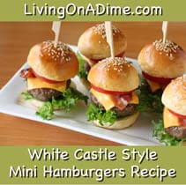 Mini Hamburgers Recipe - White Castle Copycat