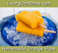Homemade orange popsicles and orange pops are tasty frozen summer treats