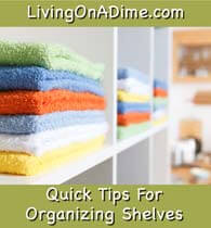 Quick Tips For Organizing Closet Shelves and Rooms