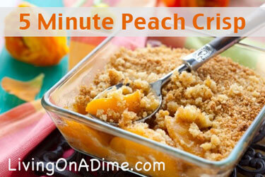 Easy 5 Minute Peach Crisp