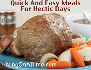 Quick And Easy Meals For Busy Days
