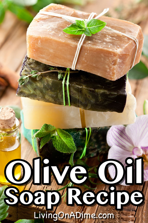 This olive oil soap recipe makes it easy to make your own homemade olive oil soap with just a few ingredients. It makes a wonderfully moisturizing and luxurious bar of soap!