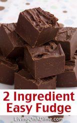 2 Ingredient Easy Fudge Recipe