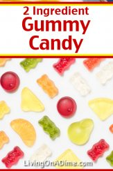 This 2 ingredient gummy candy recipe makes tasty fruity gelatin candies that the gummy candy lover in your family is sure to love! Find this and lots more easy Christmas candy recipes with 2 ingredients here!