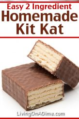 This easy 2 ingredient Kit Kat recipe makes a delicious Christmas candy recipe that tastes like Kit Kat candy bars! You can't go wrong with crunchy wafer cookies combined with luscious chocolate! Mix it up and try making some with white chocolate or dark chocolate. For a little extra pizazz, you can also add creative colored sprinkles! Find this and lots more easy Christmas candy recipes with 2 ingredients here!