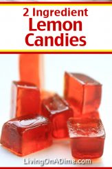 This 2 ingredient lemon candy recipe makes a tasty classic tangy and sweet hard candy! Find this and lots more easy Christmas candy recipes with 2 ingredients here!