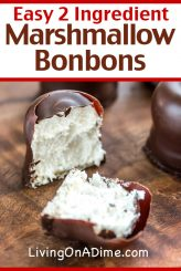 This easy 2 ingredient marshmallow bonbons recipe makes a lite fluffy chocolate marshmallow treat that is addicting! Find this and other easy 2 ingredient Christmas candy recipes here!