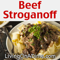 Beef Stroganoff Recipe Living On A Dime