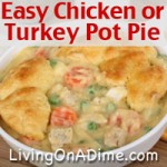 Easy Chicken or Turkey Pot Pie Recipe