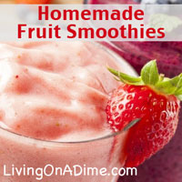 Homemade Fruit Smoothies