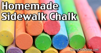 Homemade Sidewalk Chalk Recipe