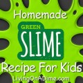 Homemade Green Slime Recipe - Fun For Kids