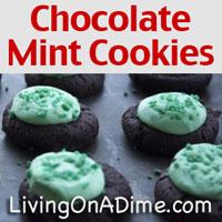 Homemade Chocolate Mint Cookies Recipe