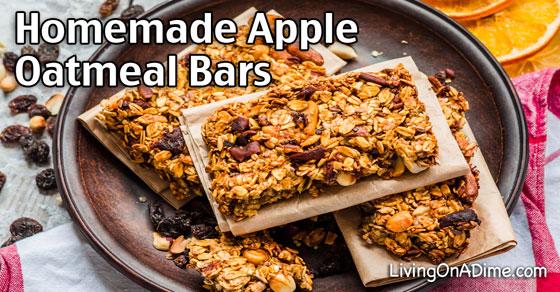 Homemade Apple Oatmeal Bars Recipe