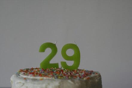 29 birthday cake