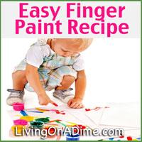 Easy Homemade Finger Paint Recipe - How To Make Finger Paint