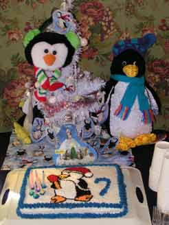 Elly's Penguin Cake was a low cost alternative to an expensive and impersonal store bought cake.
