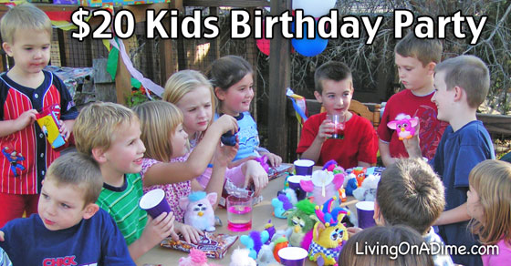 Cheap Kids Birthday Party Ideas - $20 Birthday Party!