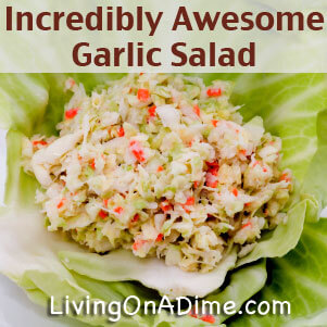 homemade garlic salad recipe