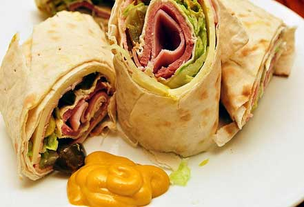 Ham Wrap Sandsich Easy Summer Recipe