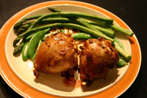apricot chicken garlic lime asparagus