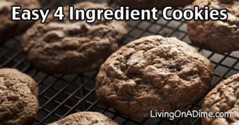 Easy 4 Ingredient Cake Mix Cookies Recipe