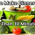 Make After Dinner Cleanup Faster