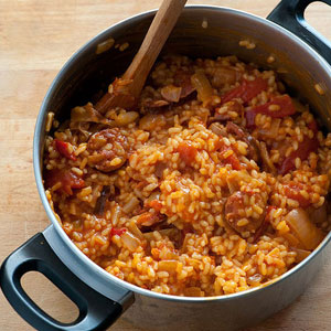 Spanish Rice and Franks