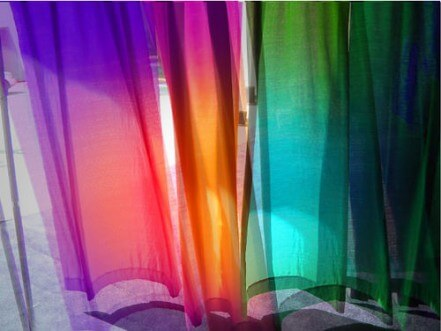 colorful curtains