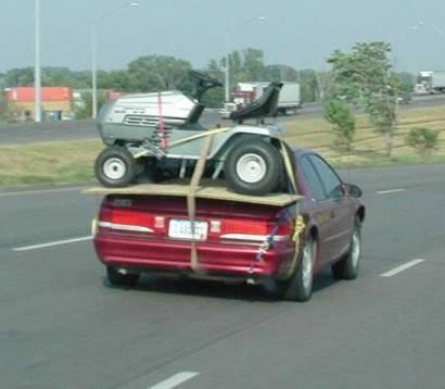 hauling on car